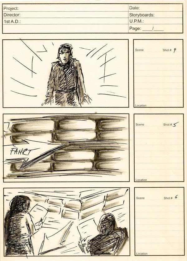 Ausschnitt aus dem Storyboard für Thomsit
