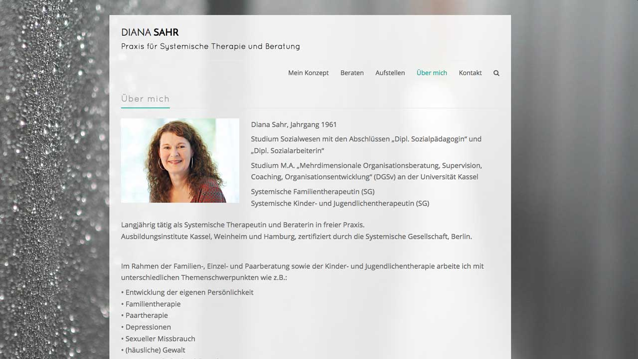 Webseite Für Therapeutische Praxis